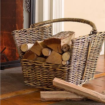 Rattan Storage Basket with Handle