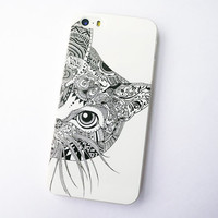 iphone 5 case iphone 5s case iphone 5 cover iphone 5s cover samsung galaxy s3 s4 note 2 note 3 case the black white cat iphone 5s case