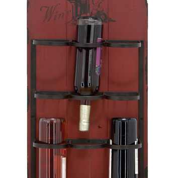 Rustic Hangable Wine Rack With 6 Slots