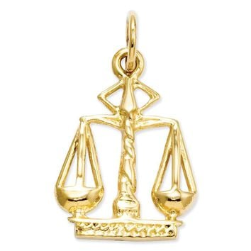 14k Yellow or White Gold Scales Of Justice Charm