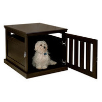 Espresso Furniture-style Dog Crate $276