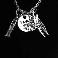 Peter Pan Themed Charm Necklace
