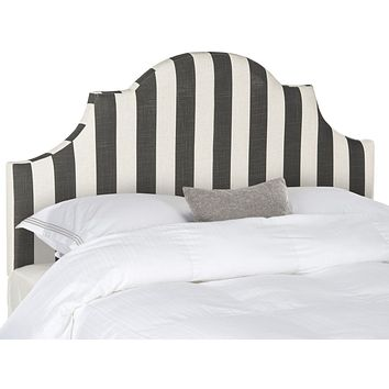 Hallmar Black & White Stripe Headboard Full
