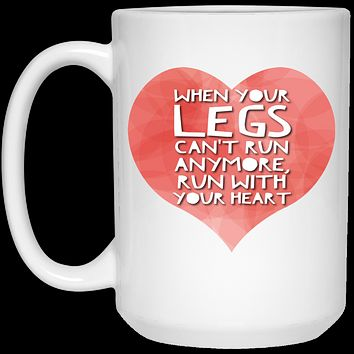 Running Gifts - Runner's Heart Coffee Mug