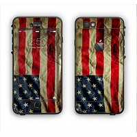 The Dark Wrinkled American Flag Apple iPhone 6 LifeProof Nuud Case Skin Set