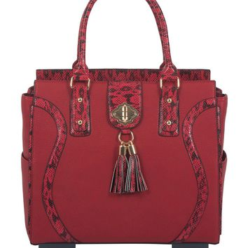 "THE ""SEDONA"" Red Rolling iPad, Tablet or Laptop Tote Spinner Wheel Carryall Bag"