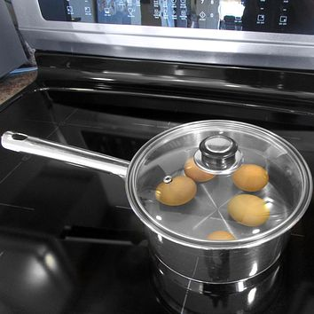 Evelots Lid for Pot & Pan-Tempered Glass-Cover-Universal-Frying Pan-Cook-Set/2