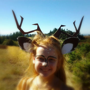 Deer antlers and ears , costume printable, diy.