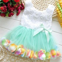 Baby Dress Toddler Party lace Bow