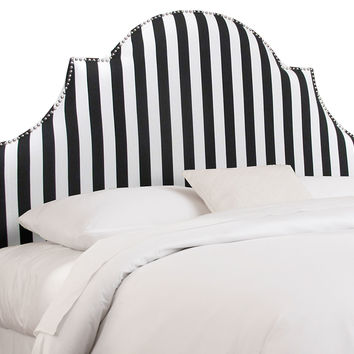 Hedren Striped Headboard, Black/White, Headboards