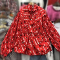 """Supreme"" Women Fashion Casual Letter Logo Print Sun Protection Clothing Long Sleeve Cardigan Hooded Coat"