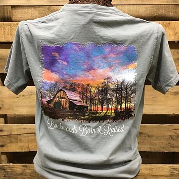 Backwoods Born & Raised Barn Country Day Comfort Colors Bright Unisex T Shirt