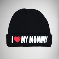 """I Love My Mommy"" Infant Beanie"