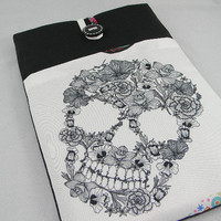 "Skull Laptop Case 13""/13 inch MacBook Pro Case/MacBook Case/MacBook Air Case/Laptop Sleeve/13""Ultrabooks Custom Size/Padded"