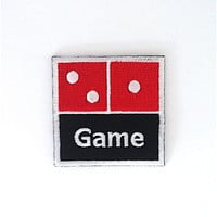 Dominoes Embroidered Patch Size 5.7 cm x 5.7 cm