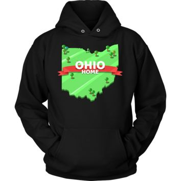 Ohio State,Ohio is my Home Map U.S.A Souvenir Travel Hoodie