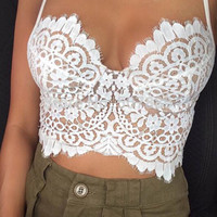KATIAH CROP TOP - Mint & Pink