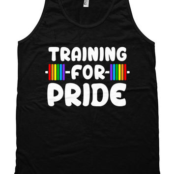 Funny Training Tank Training For Pride Clothing Training Gifts Gay Pride Exercise Tank Top American Apparel Rainbow Mens Unisex Tank WT-182