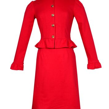 Diana classic 1940s A-line Skirt in Red