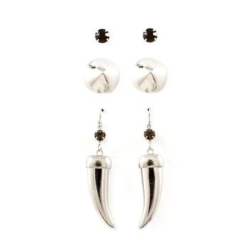 Tusks and Spikes Earring Set