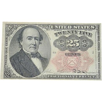 Fifth Issue  1874 Twenty Five Cents Fractional Currency