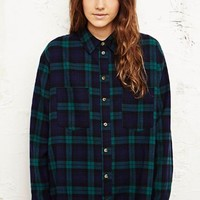 BDG Black Watch Flannel Shirt in Green at Urban Outfitters