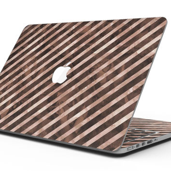Brown Watercolor Diagonal Stripes - MacBook Pro with Retina Display Full-Coverage Skin Kit