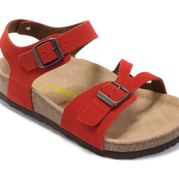 Birkenstock Women Red Casual Sandals Shoes Size 36-40