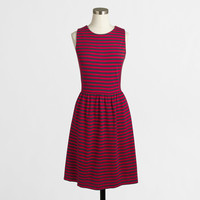 FACTORY SLEEVELESS STRIPE PONTE DRESS