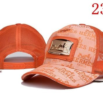 HERMES embroidery Strap Cap Adjustable Golf Snapback Baseball Hat