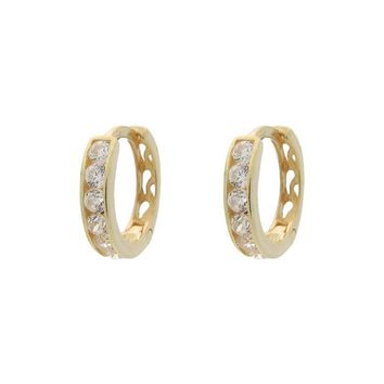 Gold Sterling Silver Earring