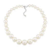 Carolee Picnic Pearls Graduated Pearl Necklace - Silver/Pearl