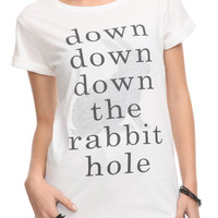 Once Upon A Time Rabbit Hole Girls T-Shirt   Hot Topic
