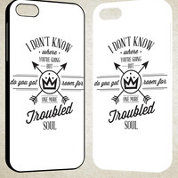 Fall Out Boy Lyric Cover Design F0443 iPhone 4S 5S 5C 6 6Plus, iPod 4 5, LG G2 G3, Sony Z2 Case