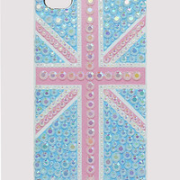 Handmade Great Britain Flag Crystals Iphone4/4S Case in Blue - New Arrivals - Retro, Indie and Unique Fashion