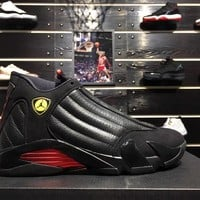 "Air Jordan 14 ""Last Shot"" ""Black&Red"" Men Basketball Sneaker 87471-003"