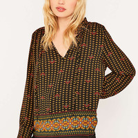 Staring at Stars Print Poet Blouse - Urban Outfitters