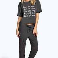 Rosie Sleep All Day Top And Jogger Set