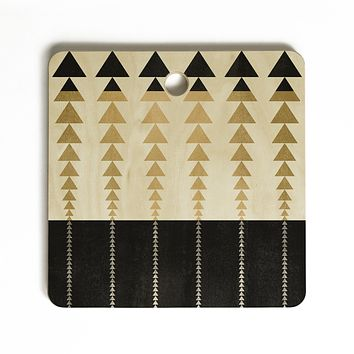 Elisabeth Fredriksson Triangles In Gold Cutting Board Square