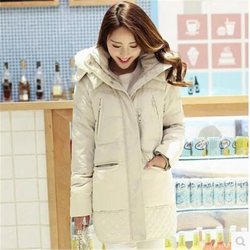 Fashion Down jacket Winter jacket Women Winter Coat Big yards Hooded Thick White duck down Keep warm Coat High quality BN993