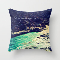 Pull Me Into Your Depths Throw Pillow by Tara Yarte  | Society6