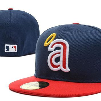 PEAPON Los Angeles Angels of Anaheim New Era 59FIFTY MLB Cap Blue-Red