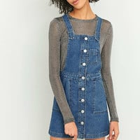 BDG Button-Down Blue Denim Pinafore Dress - Urban Outfitters