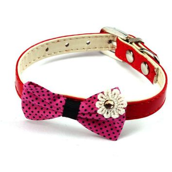 Colorful Bowtie Collar for Dogs
