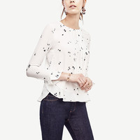 Floral Bell Sleeve Blouse | Ann Taylor