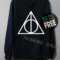 Harry Potter Deathly Hallows Shirt Sweatshirt Sweater Unisex - Size S M L