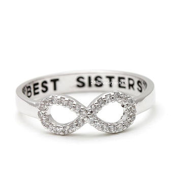 best sisters, best sisters ring, best friend ring, infinity ring, woman ring, girls ring, infinity best sisters ring, sisters ring
