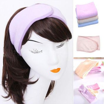 DCCKL3Z 2017 New Pink Spa Bath Shower Make Up Wash Face Cosmetic Headband Hair Band Accessories Sale