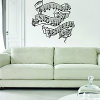 Music Notes Version 2 Decal Wall Vinyl Art Decoration