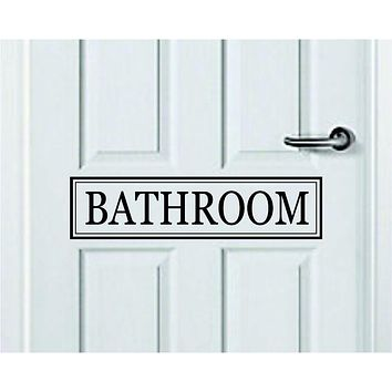Bathroom Quote Wall Decal Sticker Bedroom Room Art Vinyl Inspirational Door Sign Teen Home Shower Toilet Restroom